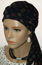 Mia City Turban 24 Sun Swirl Darkblue
