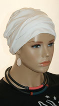 Shandra 22 Turban Cap Snow White