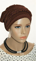 Shandra 53 Turban Cap Redwine Cinnamon Points