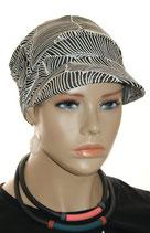 GM 487 Sun Cap Heda  Black&White Stripe