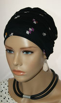 City Turban Cap 56 Black Col