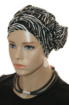 GM 533 Turban Nala Black&Milkcoffee