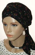 Mia City Turban 28 Black Daisys