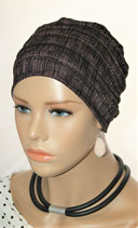 City Turban Cap 70 Blck & Pink Stripe