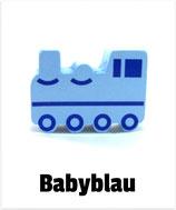 Motivperle Lokomotive babyblau