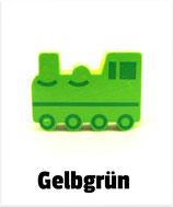 Motivperle Lokomotive gelbgrün