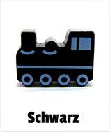 Motivperle Lokomotive schwarz