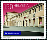 Kleinbogen; 10 x 1.50 'Schweizer Bahnhöfe - Bellinzona'