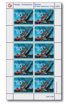 Briefmarken Kleinbogen; 10 x 0.90 'Alinghi Switzerland'