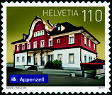 Kleinbogen; 10 x 1.10 'Schweizer Bahnhöfe - Appenzell'