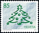 Kleinbogen à 10 x CHF 0.85 Weihnachts-Briefmarke 2016 'Weihnachtsbaum'