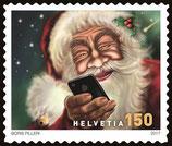 Kleinbogen à 10 x CHF 1.50 Weihnachts-Briefmarke 2017 'Merry Christmas'