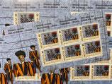 10 Bogen à 6 x 0.85 B-POST 'Schweizergarde'