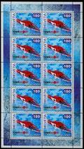 Briefmarken Kleinbogen; 10 x 1.80 '50 Jahre Rega'
