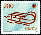 Kleinbogen à 10 x CHF 2.00 Weihnachts-Briefmarke 2016 'Schlitten'