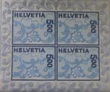 Briefmarken-Bogen 4 x 5.00 'Stickerei'