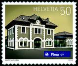 Kleinbogen; 10 x 0.50 'Schweizer Bahnhöfe - Fleurier'