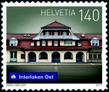 Kleinbogen; 10 x 1.40 'Schweizer Bahnhöfe - Interlaken'