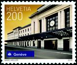 Kleinbogen; 10 x 2.00 'Schweizer Bahnhöfe - Genf'