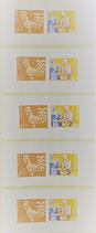 10 x 5.30 - Etiketten Briefmarken