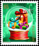 Bogen à 20 x CHF 0.85 Weihnachts-Briefmarke 2015 'Geschenkkugel'