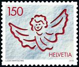 Kleinbogen à 10 x CHF 1.50 Weihnachts-Briefmarke 2016 'Engel'