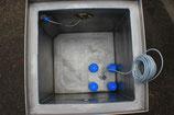 Doppelwandiger Pumpensumpf mit unterirdischer Rohrdurchführung
