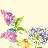 Serviettes Dunisoft bouquet fleur