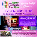 """Clemens Kuby - """"Die Kuby®methode"""" - 12.10 um 18 Uhr bis 14.10 um 16 Uhr in dem Berghotel St. Andreasberg"""