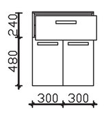 Pelipal Solitaire 7005 - Highboard 73cm