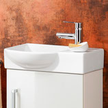 Lanzet  K3 Gästebad - Keramik Waschtisch-Set 50cm - Becken links