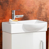 Lanzet  K3 Gästebad - Keramik Waschtisch-Set 50cm - Becken rechts