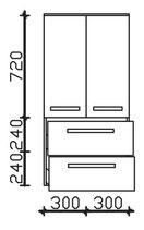 Pelipal Solitaire 7005 - Midischrank 121cm