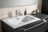 Lanzet  K5 - Keramik Waschtisch-Set 120cm - 1 Auszug - Becken links