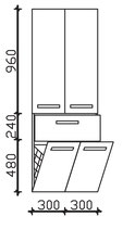 Pelipal Solitaire 7005 - Hochschrank 168cm