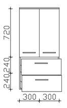 Pelipal Cassca - Midischrank 121cm