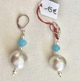 Boucles d'oreilles pendantes Cotton et Cristal Swarovski