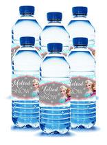 Wasserflaschen PET 5dl im 6er Pack mit Etiketten