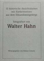 Historisches Ansichtskartenset mit Klettermotiven aus dem Elbsandsteingebirge (fotografiert von Walter Hahn)