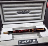 Penna roller Parker Duofold International rossa Burgundy
