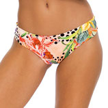 Shocking Forals Bikinislip Seamless Full Ruched Back Bottom Multicolor