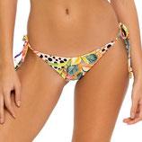 Shocking Florals Bikinislip Wavey Ruched Back Full Tie Side Bottom Multicolr