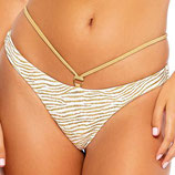 Goddess Allure Bikinislip Strapy Ring Bottom Gold Rush