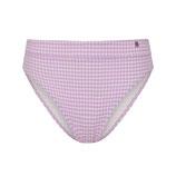 Lilac Check Bikinislip High-Waist