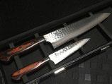 ダマスカス33層鋼牛刀210mm、ペテ120mm2点セット+オリジナルボールペン