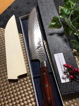 ダマスカス33層鋼・龍の彫刻入りブッチャーナイフ