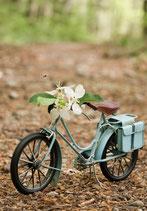 Postkarte-geschmücktes Fahrrad