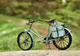 Postkarte-Unterwegs mit dem Rad