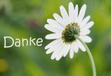 Postkarte - Mit Blume Danke sagen