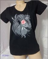 T-Shirt mit V-Ausschnitt für Frauen Motive Frau 2